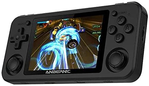 Console Giochi Portatile RG351P 64GB 3,5  IPS Supporta PSP NDS DC, Console Portatile con 2500 GiochiChip RK3326,3500mAh Battery (Nero)