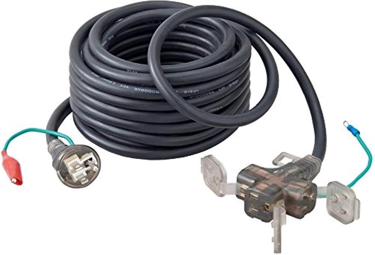 恥ずかしい蚊許可するブラックコンドル アース付き延長コード 10m ブラック 3芯(2芯兼用) 3個口 BC10E-BK 防塵キャップ付 やわらかコード