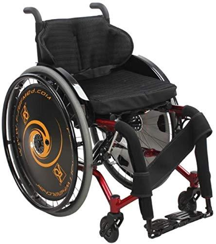 Silla de ruedas ergonómicas for personas mayores casuales plegables casuales for silla de ruedas de la silla de ruedas mayores discapacitados for discapacitados Scooter de edad avanzada, B, A, Color N