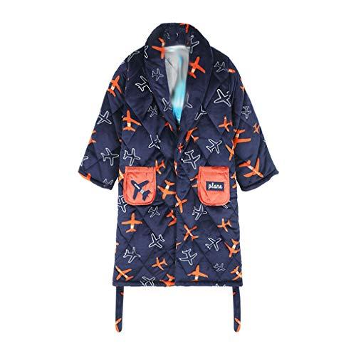 YWSZJ Otoño Invierno niños Ropa de Dormir Robe Flannel Cálido Albornoz para Adolescentes Pijamas para niños (Size : 165cm)