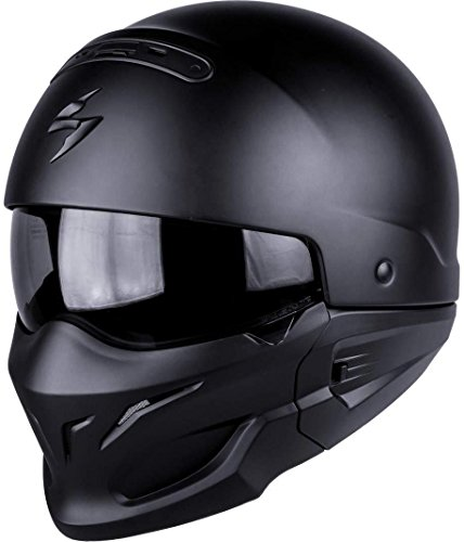 Scorpion 82-100-10-04 Motorradhelm - Exo Combat, Noir, Größe M