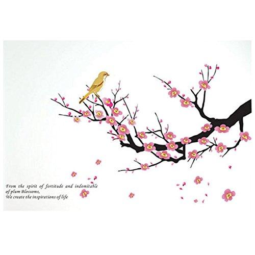 ケイ・ララ ウォールステッカー 木 花 [梅の木と鳥] おしゃれ 壁紙シール ウォールシール はがせる DIY 壁紙 シール