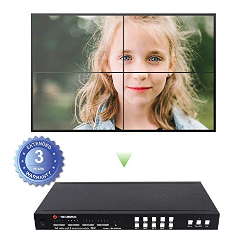 J-Tech Digital 2X2 HDMI Video Wall Controller Seamless 4x4 1080p HDCP1.4 HDMI Matrix Switch with IR Remote, RS232 PC Web Interface Remote Control, Control4 JTD-P8 Drivers [JTECH-SMX44]