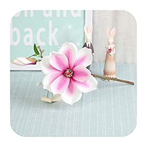 SmarketL 3D European-Style Mini Magnolia Simulation Silk Flower Home Wedding Decoration Furnishings Artificial Handmade Magnolia Plant-05