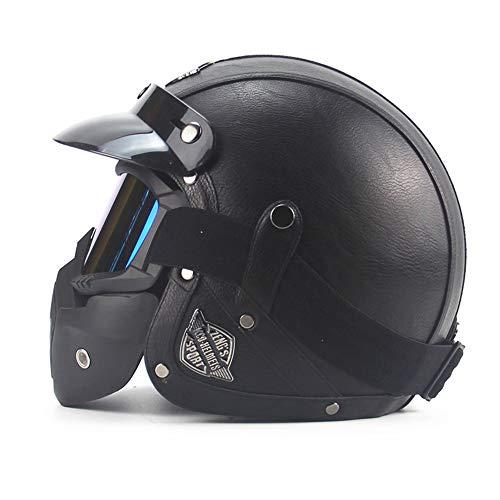 CARACHOME Casco Seguridad, Casco de Motocross, Motocicleta con máscara, Casco Patinete electrico...