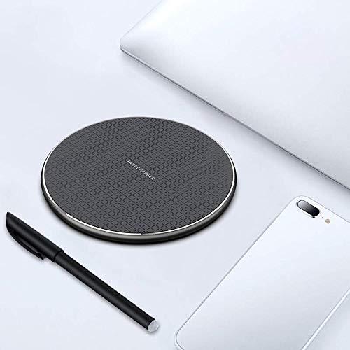 OEM Cargador Inalámbrico 10W Qi Wireless Carga Rápida para iPhone XS/XS MAX/XR/X / 8 / 8Plus Samsung Galaxy Note 9 /S9 /S8 /S7 /S8 /S9 / Edge /S6 / - Negro [Clase de eficiencia energética A+++