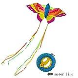 GUL Mariposa Colorida Mariposa de la Cometa al Aire Libre al Aire Libre Cometas Cometas Volando Juguetes for los niños de los niños Stunt Kite Surf (Color : Rojo, Talla : Kite+400m Reel)