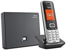 Gigaset Professionele en Intelligente Telefoon voor thuis, S850A Go/S30852-H2625-M101 Nederland, Zwart, 2.6 x 4.9 x 15.1 cm