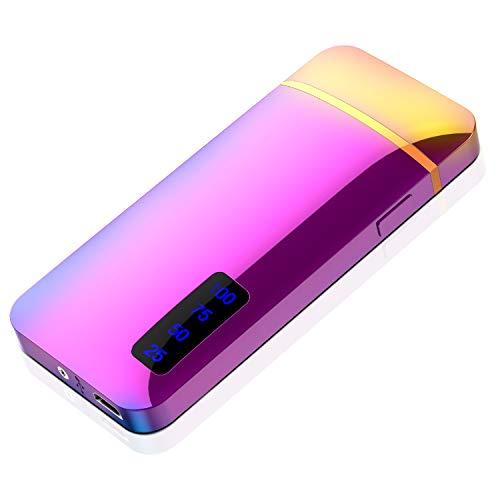 プラズマ ライター 電子 電気 usb ライター 小型 充電式 防風 軽量 (マルチカラー)