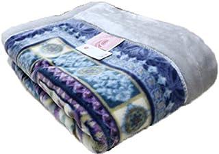 シングル 日本製 西川 制電 抗菌防臭 アクリル2枚合せ毛布 (MD9080) (ネイビー)