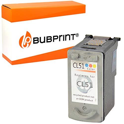 Bubprint Druckerpatrone kompatibel für Canon CL-51 für Pixma IP2200 IP6200 IP6210D IP6220D IP6300 IP6310D IP6320D MP150 MP160 MP170 MP180 MP450 MP450X MP460 MX300 MX310 Color