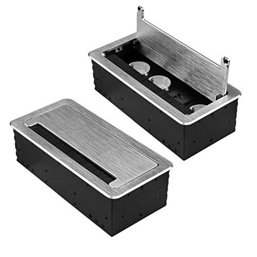 M1361 - Einbausteckdose mit USB in verschiedenen Größen und Farben (3er / 2x USB/silber)