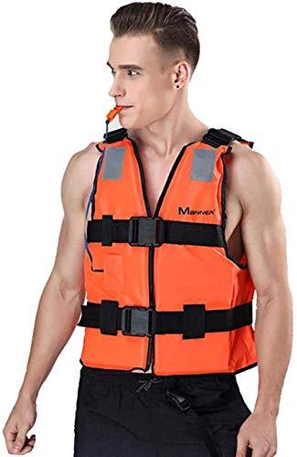 POUAOK Chaleco de natación para Adultos, Chaquetas de natación con Ayuda a la flotabilidad - Chaleco de esnórquel Inflable portátil, para natación, Kayak, esnórquel, Remo, Unisex