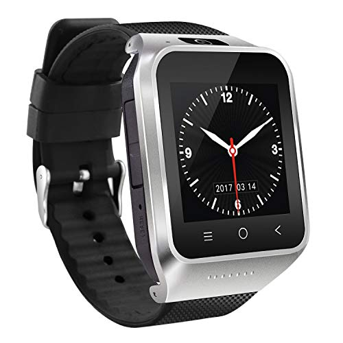 WOVELOT Smart Watch - Orologio Smart Stampa per Fotocamera Touch-Screen Compatibile con Sistema Android con Slot per Sim Card Uomo Donna Bambino (Argento)