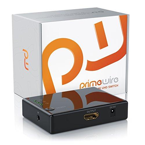 CSL - 4k HDMI Switch 3 Port HDMI Umschalter - 3D CEC - 36 Bit Deep Color - Full HD 1080p Ultra HD 2160p Auflösung bis 4k bei 30Hz