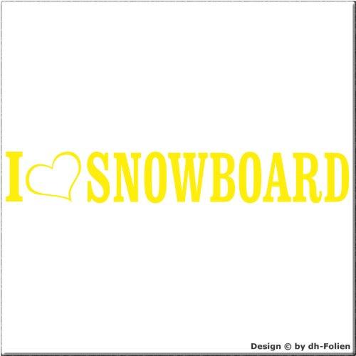 cartattoo4you AL-01078 | I LOVE (als Herz) SNOWBOARD | Autoaufkleber Aufkleber FARBE citrus , in 23 weiteren Farben erhältlich , glänzend 20 x 3 cm Waschstrassenfest Versandkostenfrei , Motiv Copyright by dh-Folien