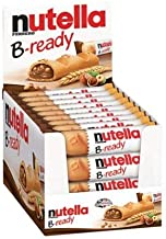 Nutella B-Ready Biscuits, Crispy Wafer Shell Filled with Hazelnut Cocoa Spread, 22g (Pack of 30)
