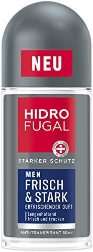 Hidrofugal Men Frisch & Stark Roll-on (50 ml), starker Anti-Transpirant Schutz mit erfrischendem Duft, Deo für Männer ohne Ethylalkohol
