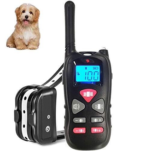 Havenfly Collar de Adiestramiento para Perros sin Descarga Eléctrica, Collar de Entrenamiento para Perros con Función de Vibración y Sonido, Remoto de 500m, Impermeable y Recargable (1 Perro)