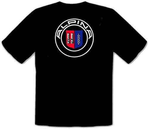 Alpina Logo Schwarze T-Shirt - 531 -SW