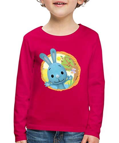 KiKANiNCHEN Kaninchen Sommertag Am See Kinder Premium Langarmshirt, 110-116, Dunkles Pink