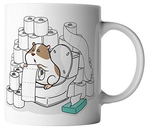 vanVerden Tasse - Klopapier König Hamsterkäufe Coronavirus 2020 COVID-19 - beidseitig Bedruckt - Geschenk Idee Kaffeetassen mit Spruch, Tassenfarbe:Weiß