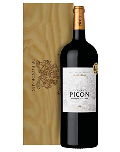 Bordeaux Supérieur AOC La Réserve Château Picon 2016 Magnum 1,5 L, Cassetta di legno