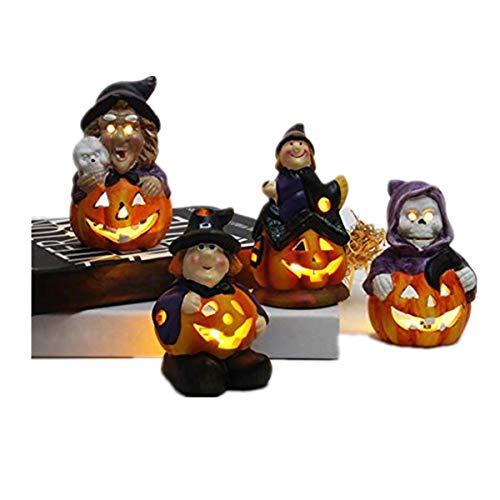 FBGood - Lámpara Nocturna para Halloween con Calabaza, luz de Bruja, Naranja, B