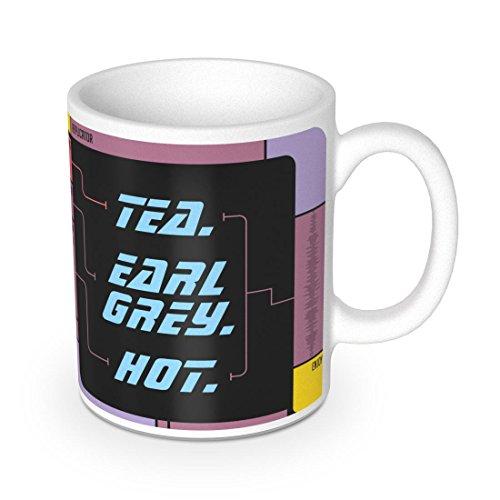getDigital Tea. Earl Grey. Hot. Becher - Keramik-Tasse für Tee und Kaffee - Zeigt den Replikator aus einer berühmten Science-Fiction Serie - 300 ml