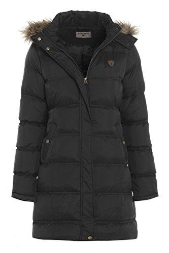 SS7 - Abrigo acolchado de piel sintética para mujer, talla grande, color...
