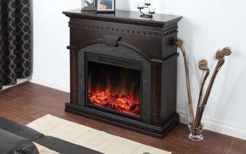 Muskoka Cavan Electric Fireplace, 40-Inch, Burnished Walnut