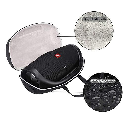 Harde reistas voor JBL Boombox Draagbare Bluetooth Waterdichte Speaker Bescherming Draagtas Kan Extra Accommoderen De Oplader Plug USB-Kabel etc, Zwart
