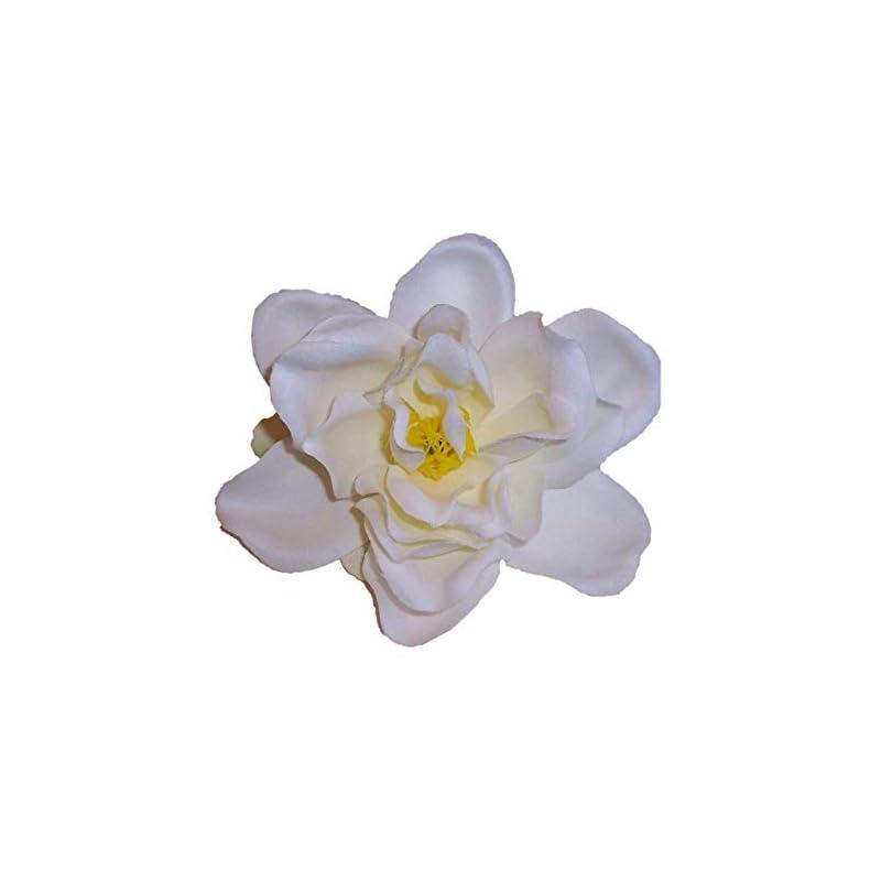silk flower arrangements silk flower hair clip/pin brooch, small gardenia, white