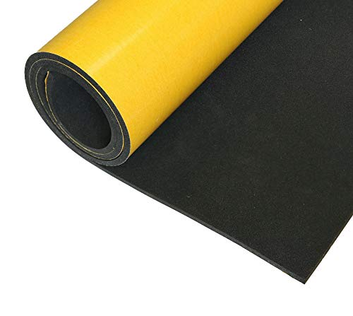 EPDM Zellkautschuk 2 mm Stärke 0,5mx1m einseitig selbstklebend schwarz ideal als Dichtung oder Dichtband ebenso als Antirutschmatte besonderst langlebig und stark haftender Kleber