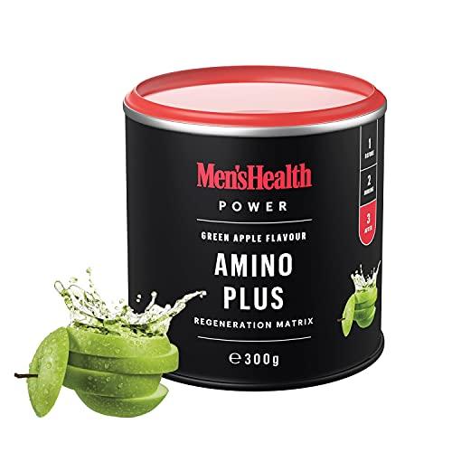 Men's Health Power AMINO PLUS Green Apple (300 g), BCCA, L-glutamina