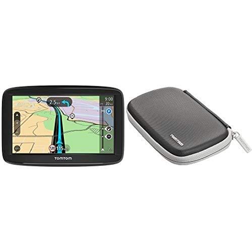 TomTom Navigationsgerät Start 52 (5 Zoll, Karten-Updates Europa, Fahrspurassistent, TMC) + TomTom Schutzhülle