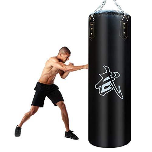CXSMKP Ungefüllt VE Leder Boxsack, Thai Box Sandsack Haken Trete Fitness Ausbildung Boxsack Stehend Einstellen Haken + Kette + Knopf, Zum Sanda Boxen Kampfkunst Karate,80cm