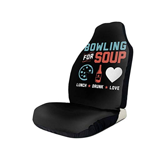 hengshiqi Car Seat Covers, Bowling for Soup Car Seat Cover Automotive Front Seat Protectors Fit for Most Car Truck SUV - 1PC/2PC