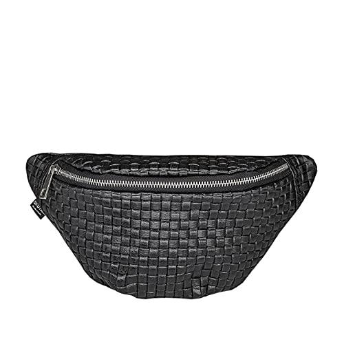 Skutari® - Riñonera Emporio de piel auténtica, con bolsillo interior, hecha a mano en Italia, correa ajustable, fabricada en Italia