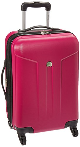 Delsey Comete 20-Inch Expandable Carry On Spinner Luggage - Fuschia