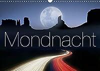Mondnacht (Wandkalender 2022 DIN A3 quer): In Begleitung des Mondes durch das Jahr (Monatskalender, 14 Seiten )