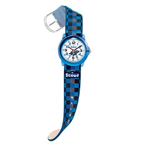 Scout Jungen Analog Quarz Uhr mit Lederimitat Armband 280305015