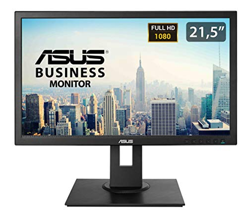 Asus BE229QLB 54,6 cm (21,5 Zoll) Business Monitor (Full HD, VGA, DVI, DisplayPort, 5ms Reaktionszeit) schwarz