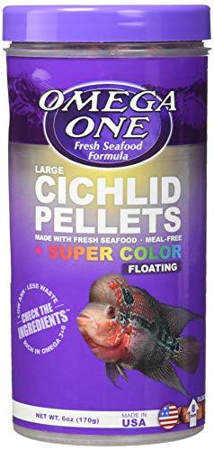 Omega One Super Color Floating Cichlid Pellets, 8mm Large Pellets, 6 oz
