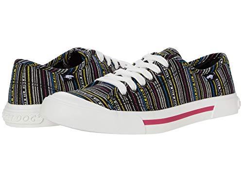 Rocket Dog Women s Jumpin Aloe Stripe Cotton Walking Shoe, Black Multi, 11