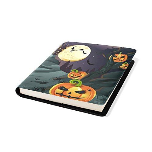 COOSUN Halloween Pumpkins Background Book Cover Sox Stretchable Livre, La Plupart des Fits Relié jusqu'à 9 manuels x 11. adhésif Libre, école Cuir PU Livre Protector 9 x 11 Pouces Multicolore