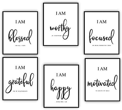 Inspirational Wall Art - Motivational Wall Art - Office & Bedroom Wall Decor - Positive Quotes &...