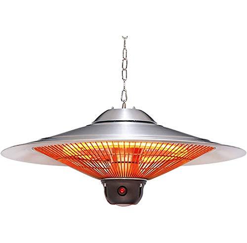 ZHUAN Calentador de Patio suspendido al Aire Libre Calentador de araña halógeno de 2500 W Potencia Ajustable Protección contra sobrecalentamiento-A