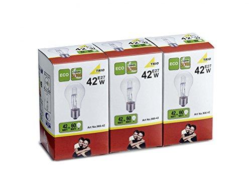 Lot de 3 ampoules : 1 x AGL E27 42 W/60 W Économes en énergie