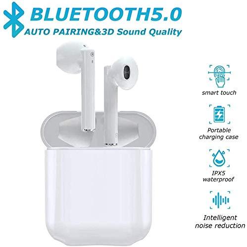 Bluetooth Headset 5.0,écouteurs sans Fil Bluetooth,3D Stéréo HiFi,Microphone intégré,écouteurs Bluetooth IPX5 étanche,couplage Automatique,Compatible avec A-pple/Android/iPhone/Samsung/Huawei